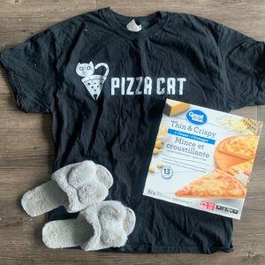 Pizza Cat Colony Hustler Black Tee
